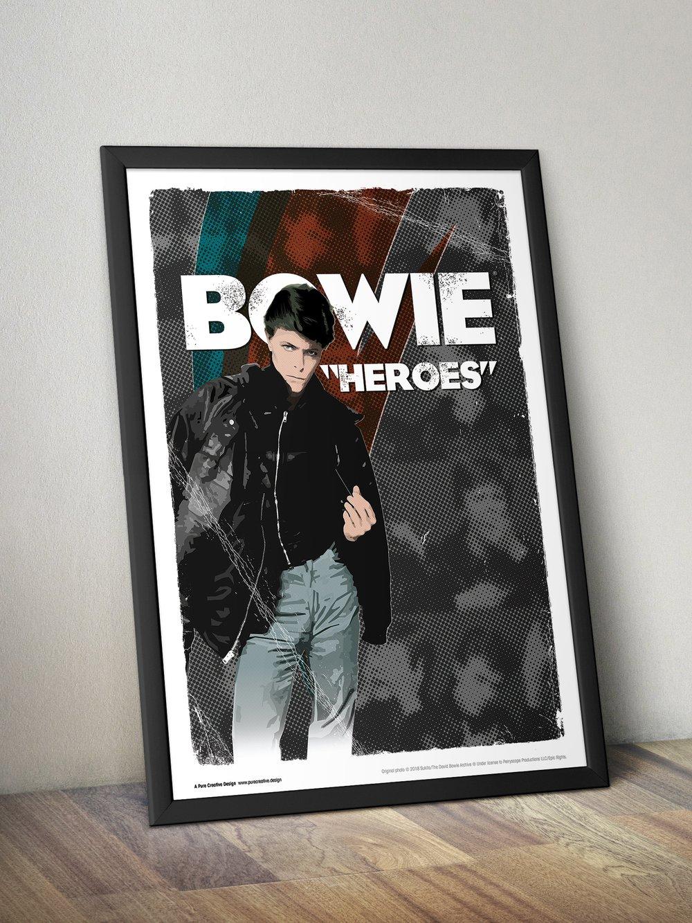 David Bowie Art Print – No. 5 'Hero'