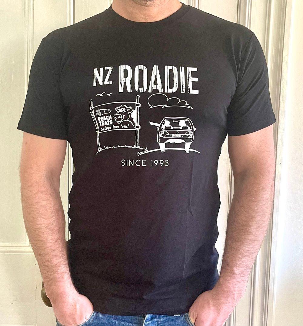 Image of NZ Roadie Tee Black(comes in Grey marle) - Mens/Unisex