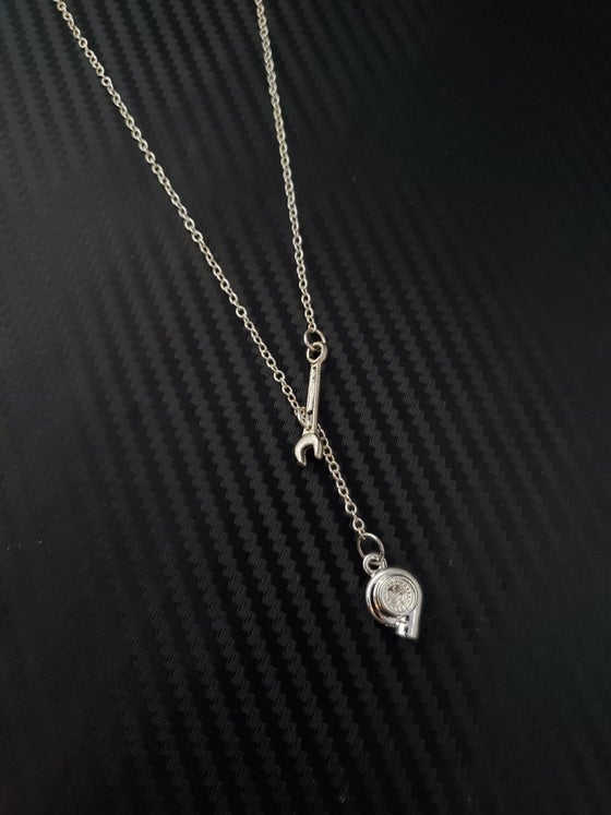 Image of Wrench Lariat Necklace