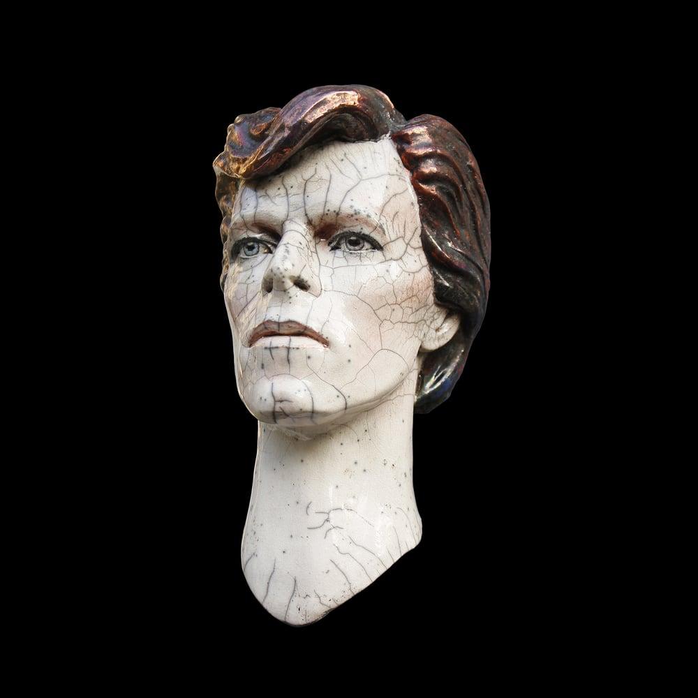 David Bowie - Cracked Actor - Raku Sculpture