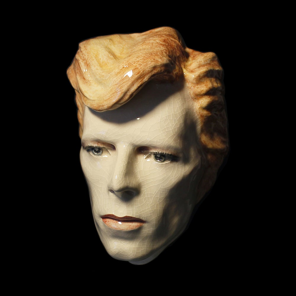 David Bowie - Cracked Actor - Painted and Glazed Ceramic Sculpture