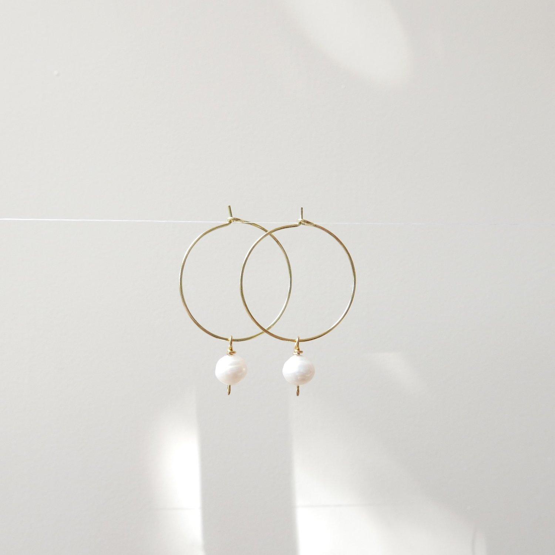 Image of Goodheart Hoops - Freshwater Pearls