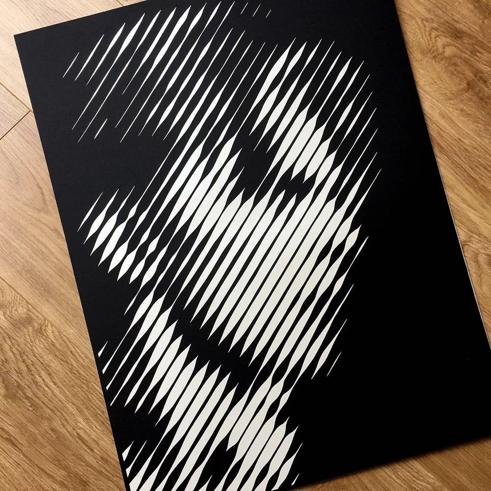 Bowie – Thin White Duke –  Layered Papercut Print