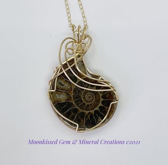 Image of Ammonite 14 kt Gold Pendant