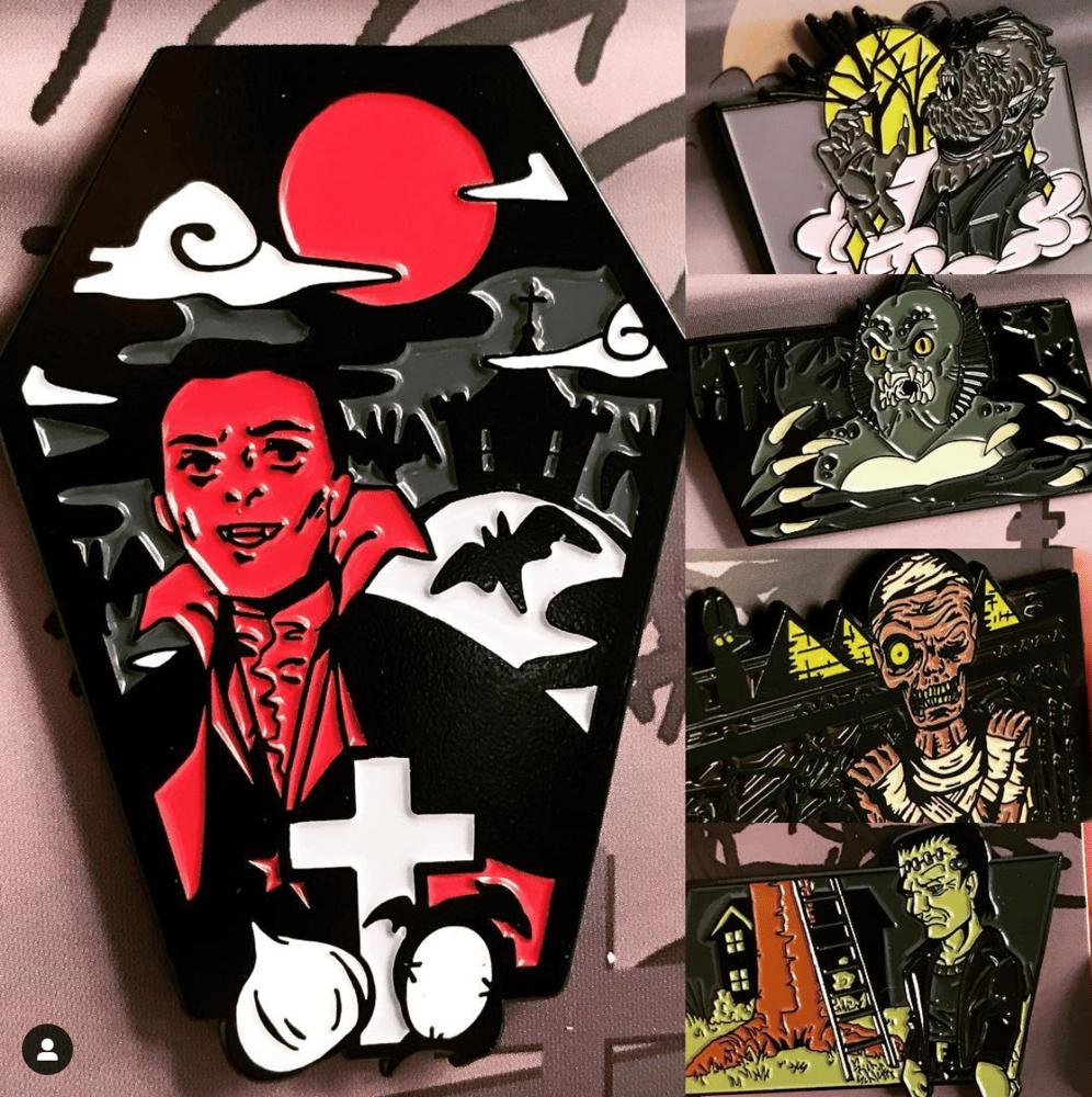 Image of Universal Monsters Series | Soft Enamel Pins