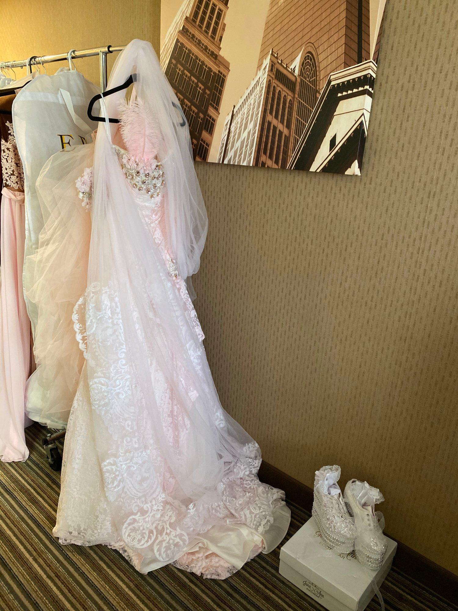 Image of Pink blushing bride gown