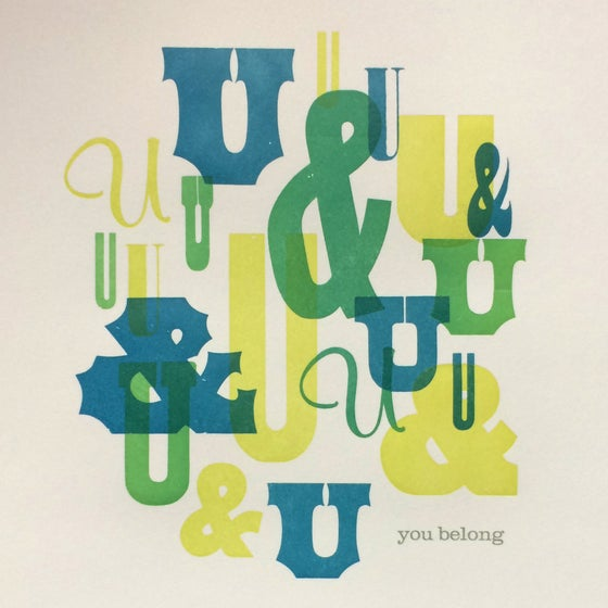 Image of You Belong (blue)
