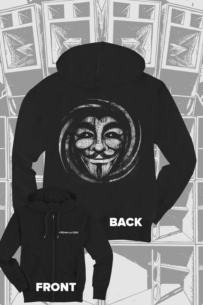 Image of Vienn_a_Tek - Guymask Zip Hoodie