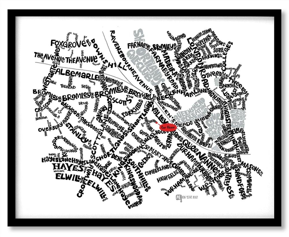 Image of Shortlands BR2 - SE London Type Map