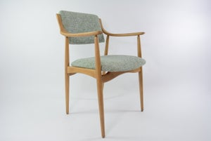 Image of Chaise scandinave vert chiné