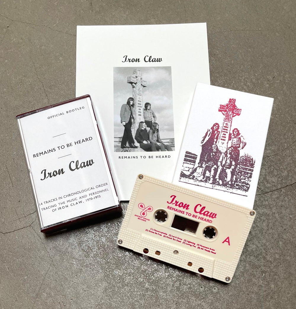 IRON CLAW - REMAINS TO BE HEARD [CASSETTE + 40 PAGE ART BOOK] •• PRINTED SHELL DESIGN -ED. OF 64