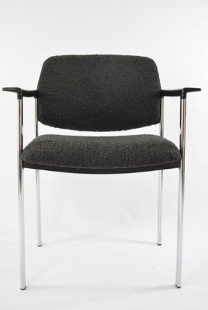 Image of Chaise chromé bouclette noire
