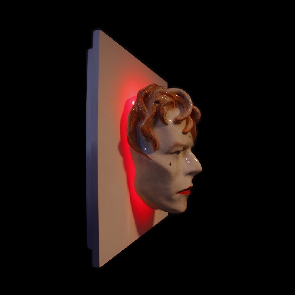 David Bowie - LED Version - Painted Ashes To Ashes Sculpture