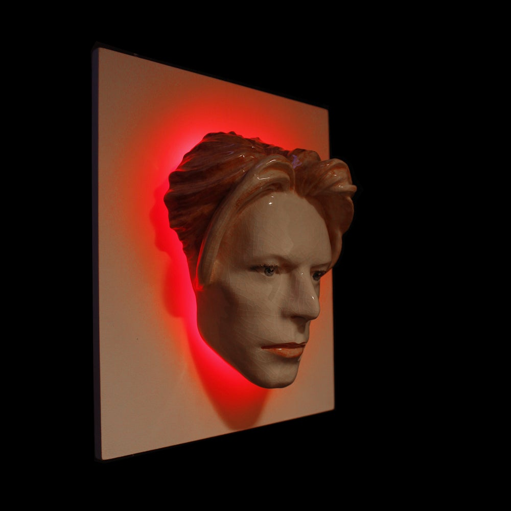 David Bowie - LED Version - Painted The Man Who Fell To Earth Sculpture