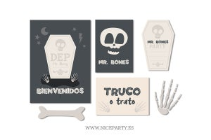 Image of Pack imprimible Huesos Halloween