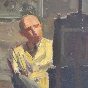 Image of 1950's, Self Portrait Oil Painting, Albert Hulstaert (1918-2011)