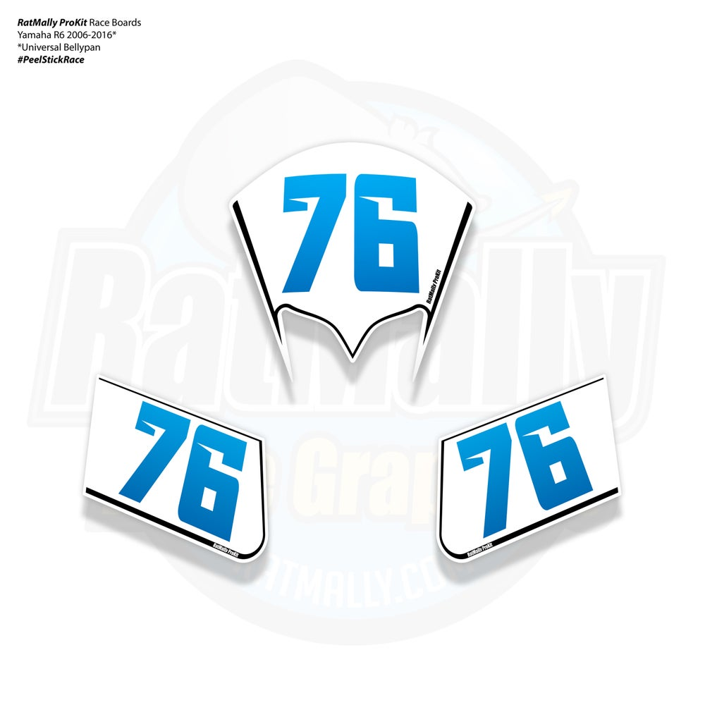 Image of Race Number Boards. To fit Yamaha R1 / R6