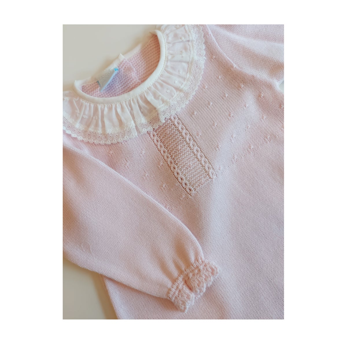 Image of Pink Granlei Dress with delicate collar
