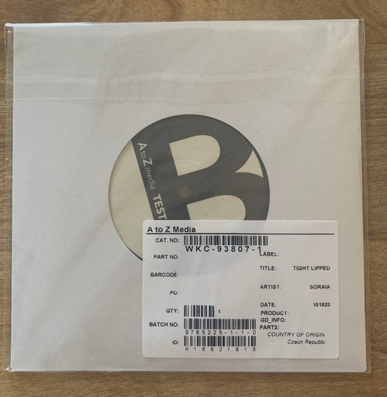 """Image of """"Tight-Lipped"""" Original Test Pressing (1 Of Only 3 Made)"""