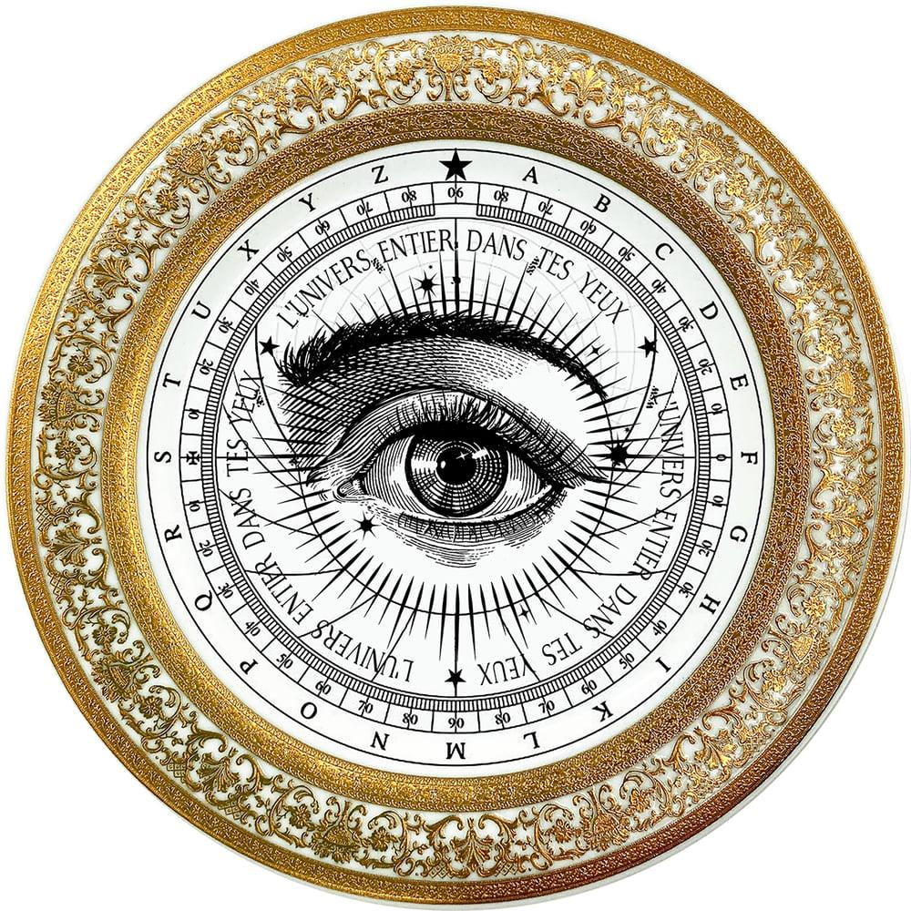 Image of Lover's Eye - Astrolabio - Fine China Plate - #0784