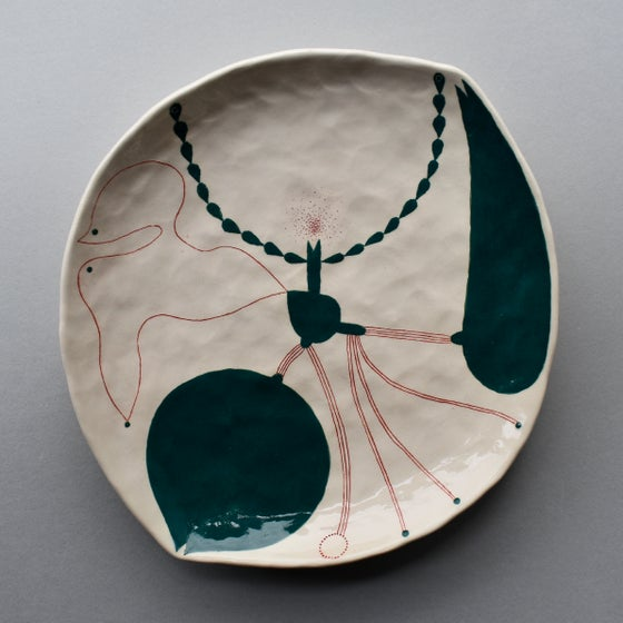 Image of Green Abstract Plant Dish