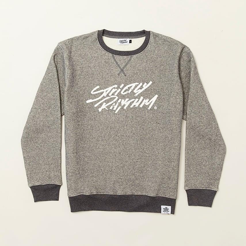 Image of Men's classic logo sweatshirt grey cross stitch