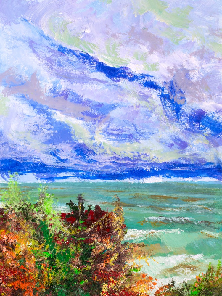 """Image of     PRINT     - """"Lake Michigan Was Angry that Day - Pt 1"""""""
