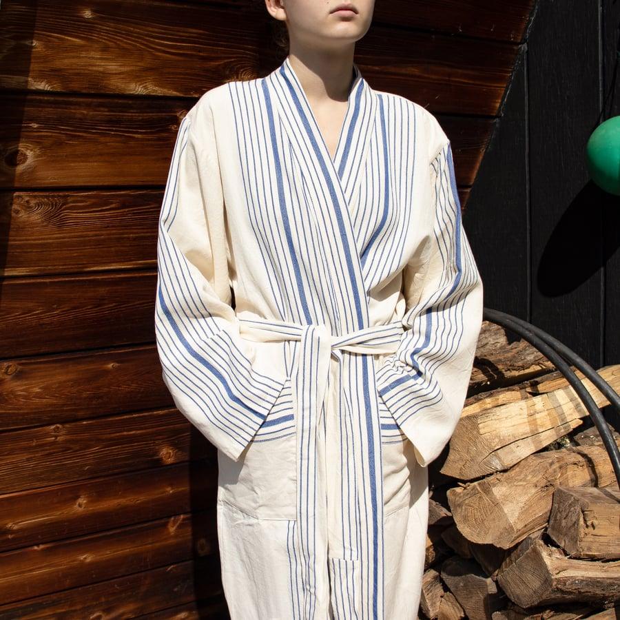 Image of Royal Blue Hudson Long Robe by Home & Loft