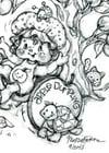 "Apple Dumpling  ""Under the Apple Tree"" Retro Print Limited Ed"