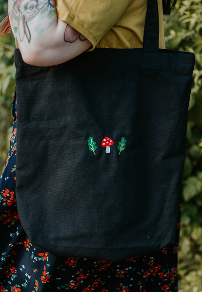 Image of Mushi & Oak Embroidered Recycled Tote