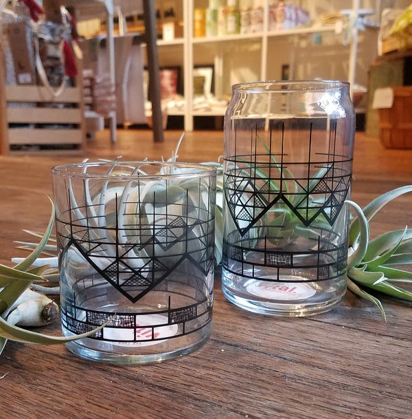 Image of Geometric Mountain Tumbler and Can Glass