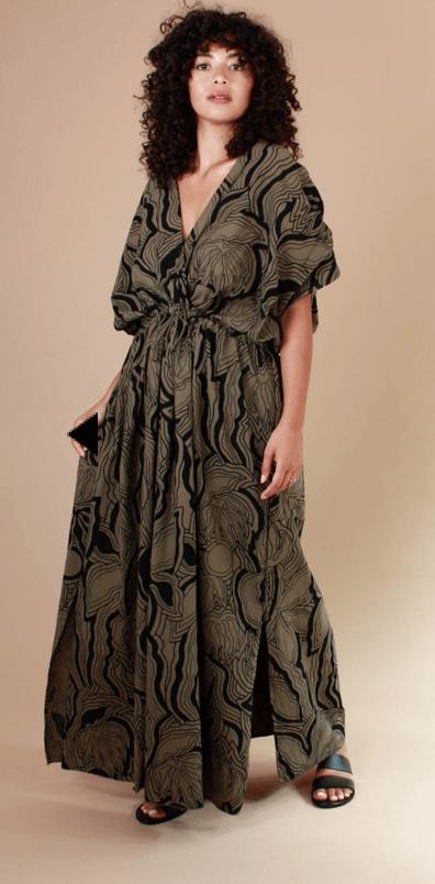 Image of Ma Poesie Greta Dress Khaki