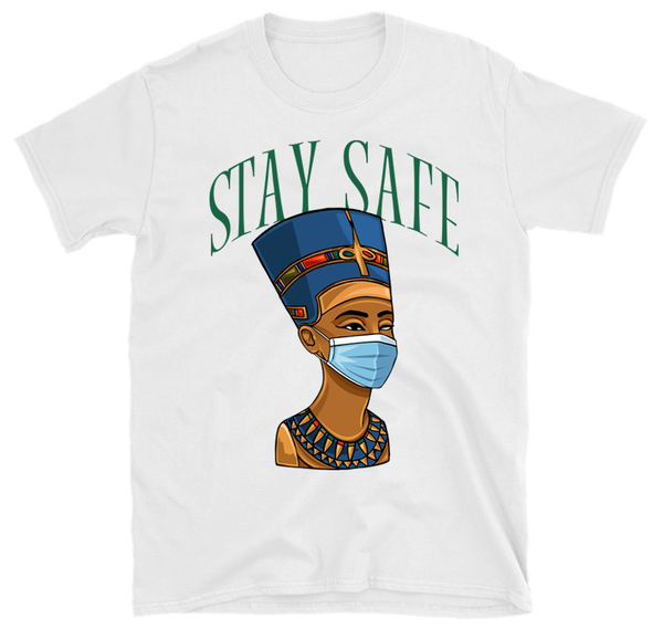 Image of Stay Safer (White T-Shirt)