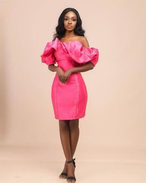 Image of ROSEY SILK DRESS