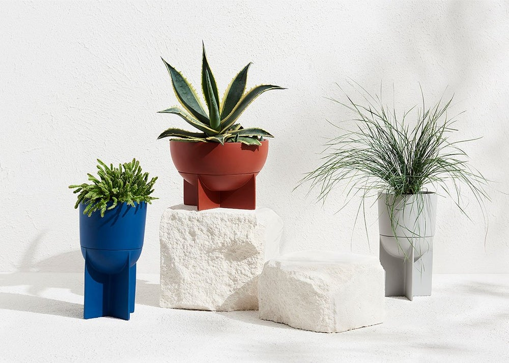 Image of Tall Eros Planter Terracotta by Moxon