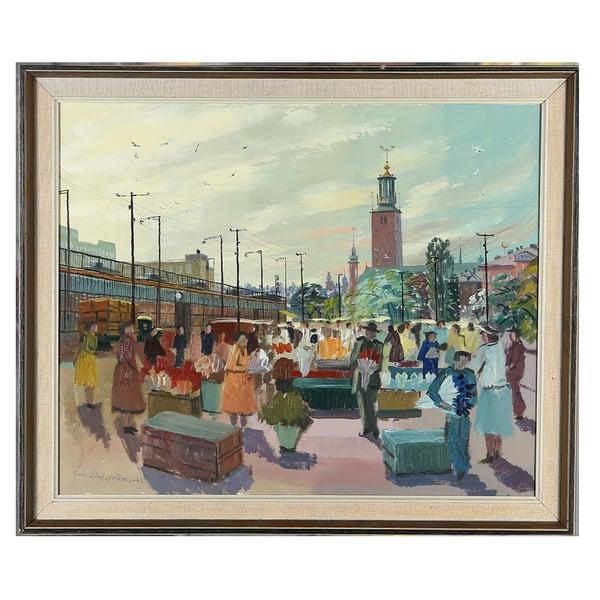 Image of 1961, 'Stockholm Flower Market,' Georg Lindstrom