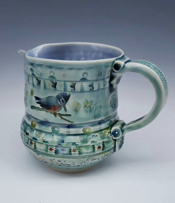 Image of Kingfisher Porcelian Pitcher