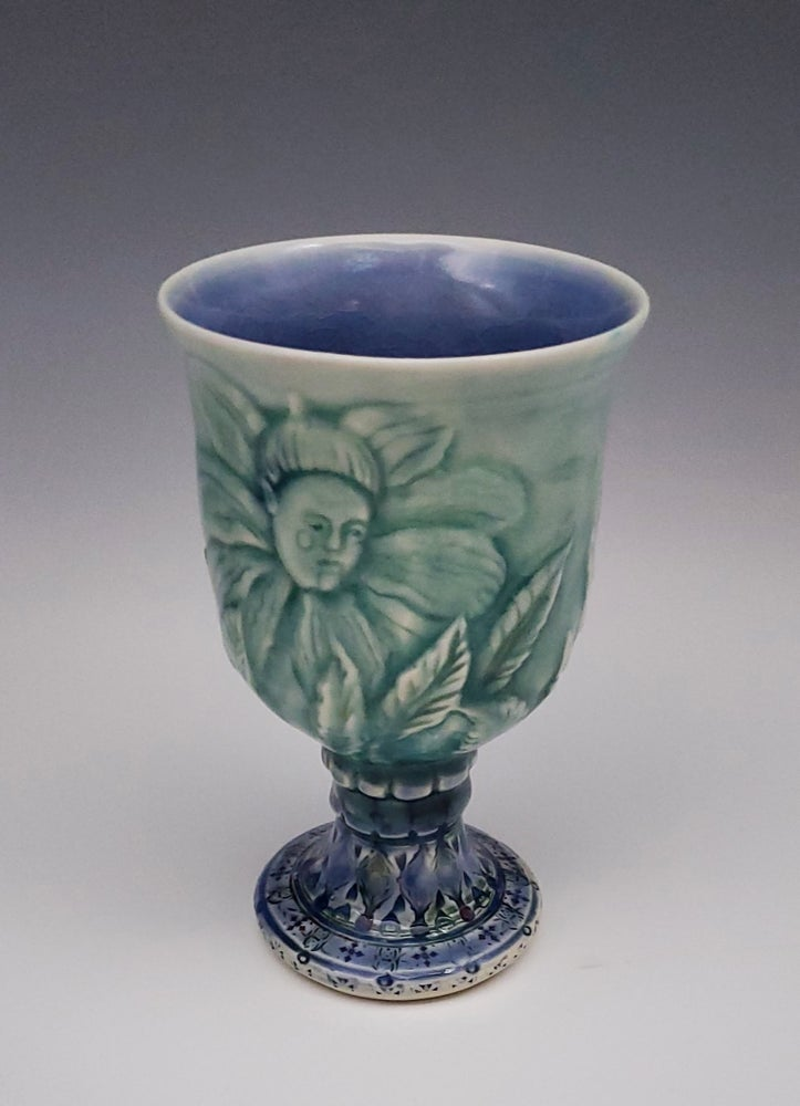 Image of Flower Fairy Evening Bas Relief Porcelain Chalice