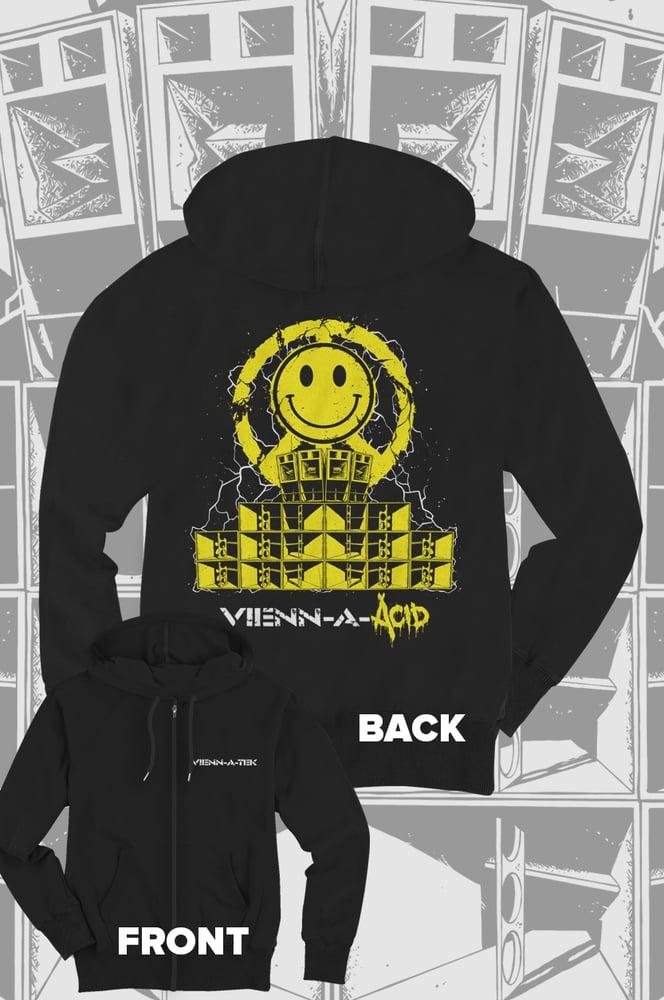 Image of Vienn_a_Tek - AcidPeacesystem Zip Hoodie