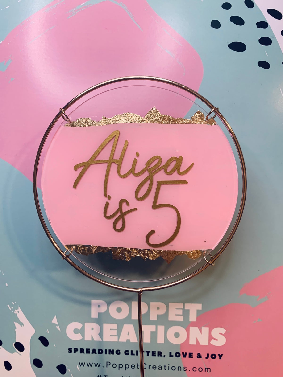 Image of *NEW* Painted Acrylic and Metal topper
