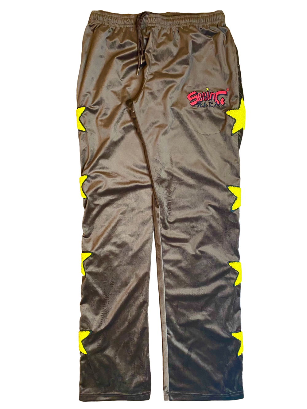CHOCOLATE BROWN VELOUR GOOD GIRLS GONE BAD TRACKPANTS