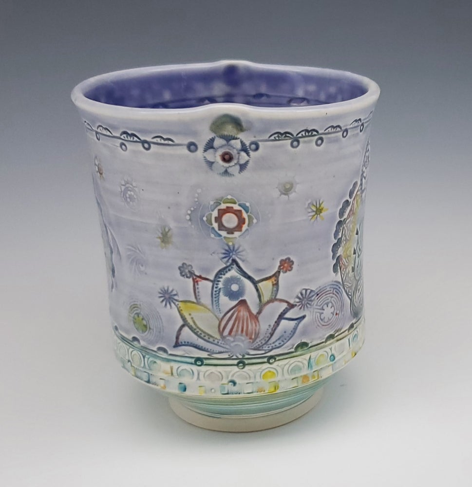 Image of Soft Lavender Bhuddha Porcelain Tumbler