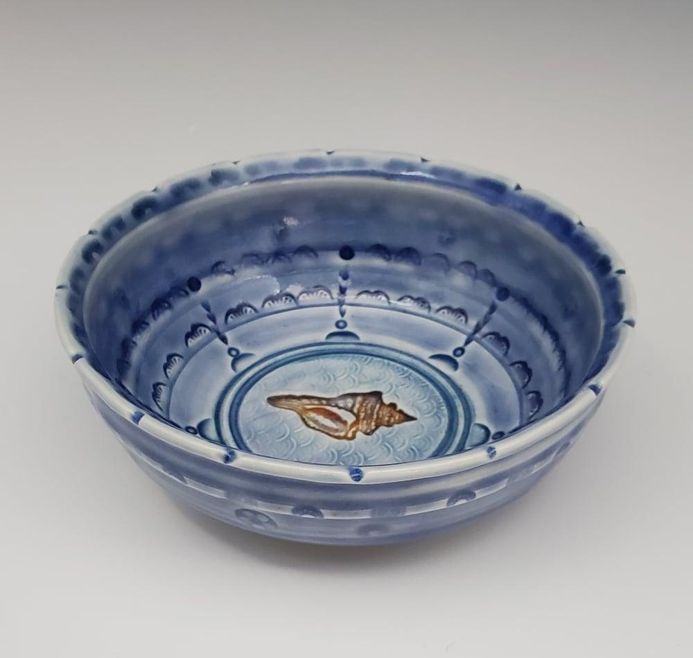 Image of Cobalt Conch Shell Keepsake Dish