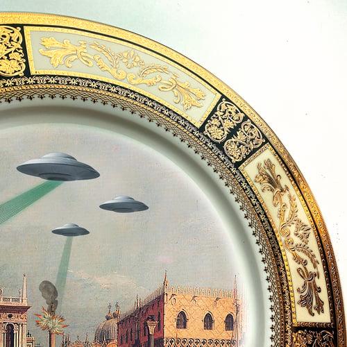 Image of Ricordi di Venezia - Fine China Plate - #0740