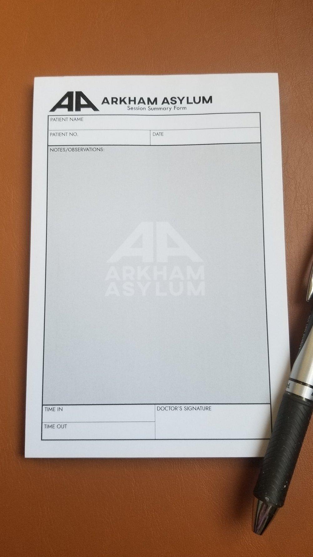 Arkham Asylum Notepad
