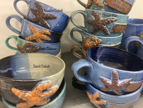 Image of Soups Style Mugs with Handle and Starfish