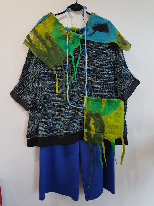 Image of blue and green top/tunic