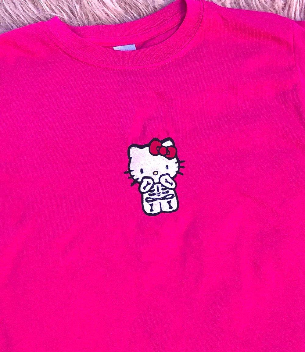 Image of Hello Kitty Skull T-shirt