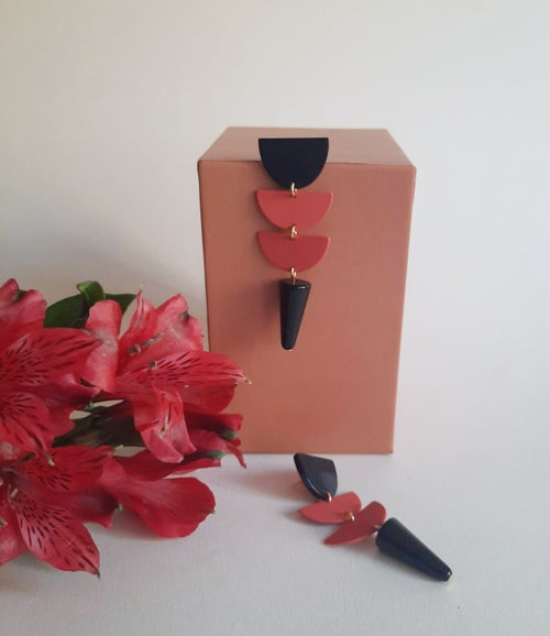 Image of Pendientes FIRENZE- Coral