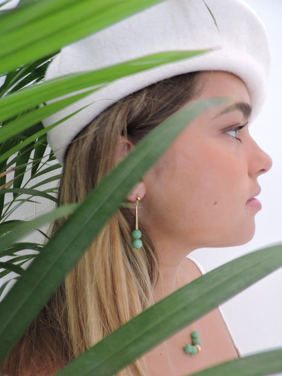 Image of Pendientes LEA - Angelita verde